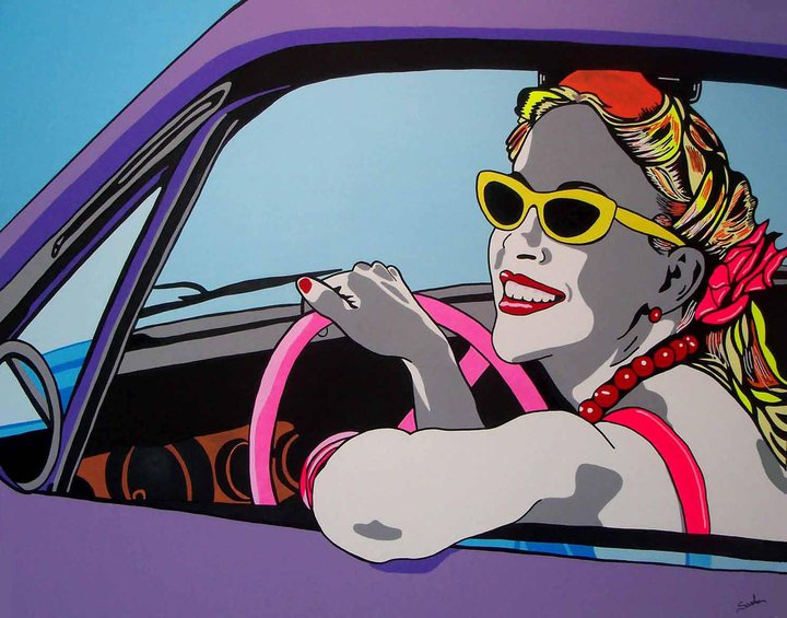 Roxy Rose's Car - cm100x80